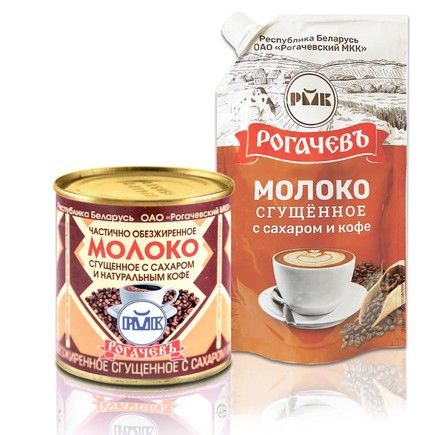 rogachev co.sweetened condensed milk with natural coffee 7% fat 380g