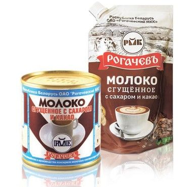 Rogachev co. sweetened condensed milk with cocoa 7.5% fat  380g