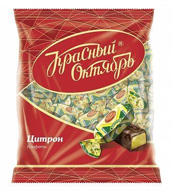 "Krasny Oktyabr Chocolate candies ""citron"" 250g"