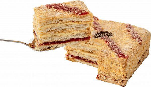 """MIREL Cake """"Napoleon with Raspberries"""" 580 gr"""