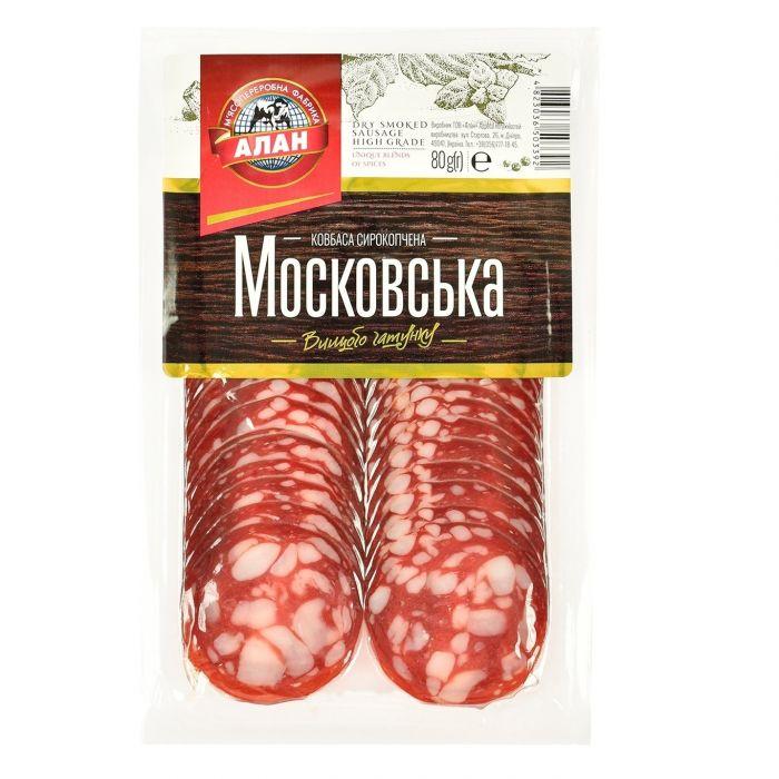 Alan dry smoked sausage Moskovska 80g (beef + pork)