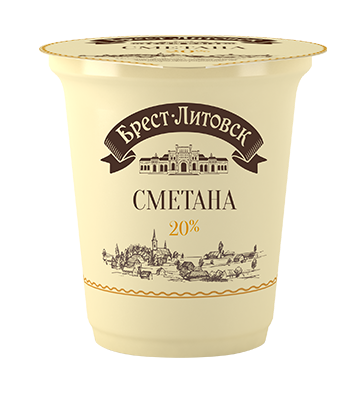 Brest Litovsk Sour Cream 20% 315g