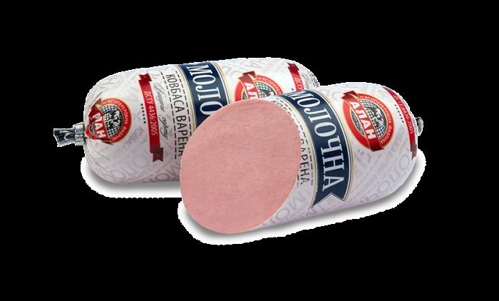"Alan Boiled Sausage ""Milky"" 400g (pork + beef)"