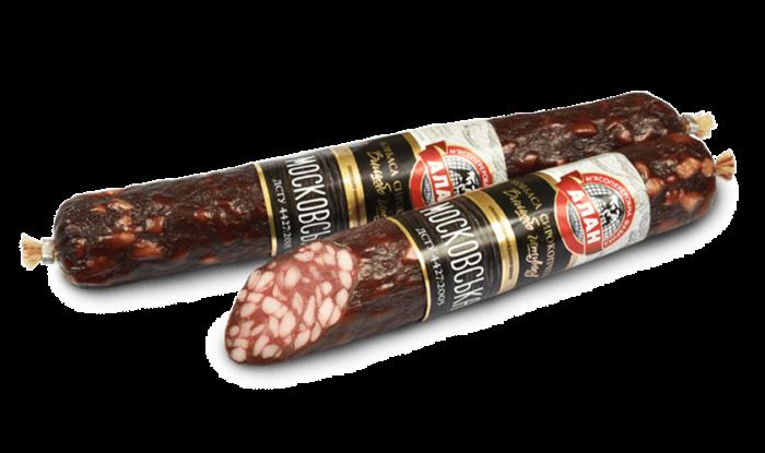 Alan dry smoked sausage Moskovskaya (beef + pork) 350gr