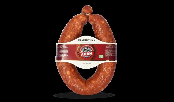 Alan smoked sausage Krakovskaya 500g  (pork+beef)