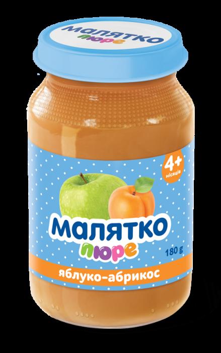 Malyatko natural puree Apple-apricot 180 gr