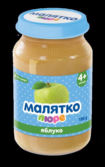 Malyatko natural puree Apple 180 gr