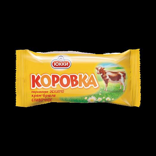 """KOROVKA""  Cream ice cream creme brulee in fat caramel glaze  with wafer  crumbs  eskimo, 65 g"
