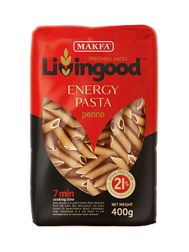 Makfa Energy pasta penne 400g  Livingood (high protein)