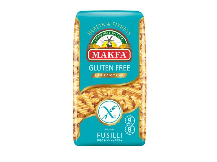 Makfa Gluten Free FUSILLI  (corn and rice flour) 300g
