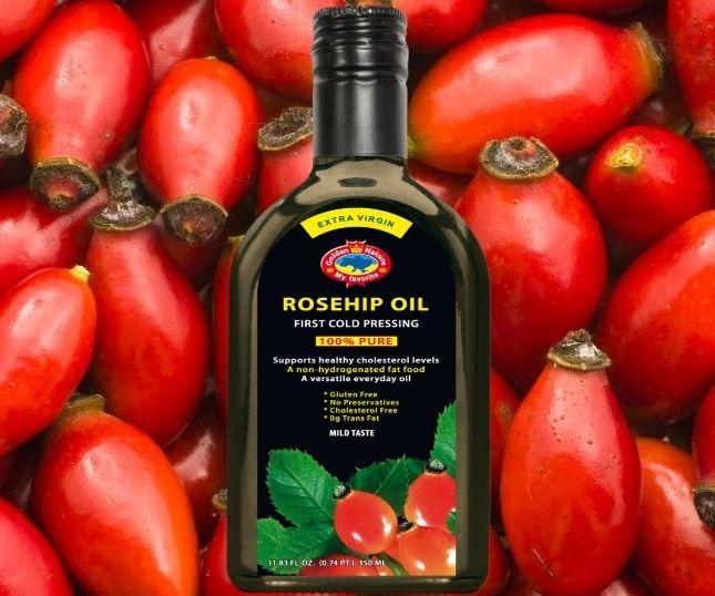 Rosehip oil (350 ml glass bottle)
