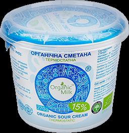 Organic Sour cream 15% 270g