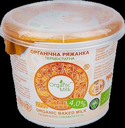Organic Baked milk 4% 270g