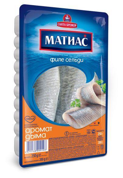 Santa Bremor Matias herring chilled smoke aroma 250g
