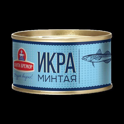 "Santa Bremor  Pollock caviar ""Lux"" Weight - 130 g Vitamins, minerals Omega 3"