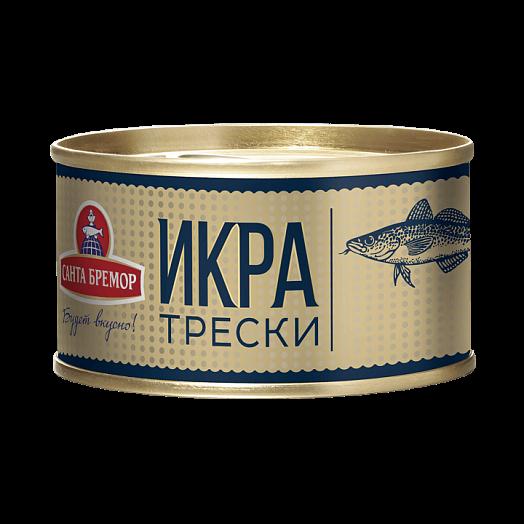 "Santa Bremor Atlantic cod caviar gourmet ""Lux"" Weight - 130 g Vitamins, minerals Omega 3"