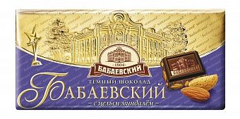 Babaevsky chocolate bar with almonds 100 g