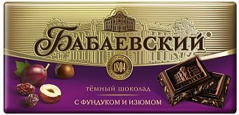 Babaevsky chocolate bar with raisins and nuts 100 g