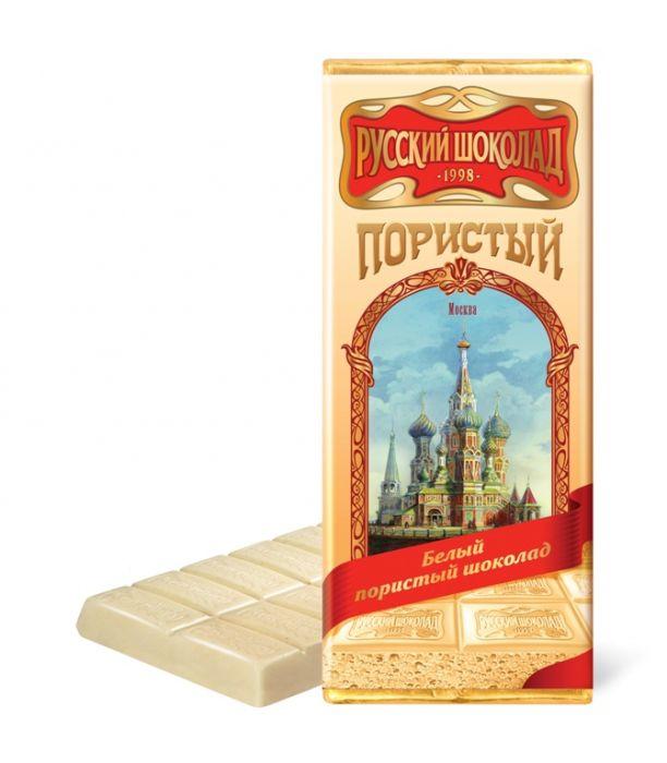 Russian Chocolate bar porous  white 90g