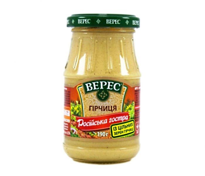 veres Mustard Spicy 190g