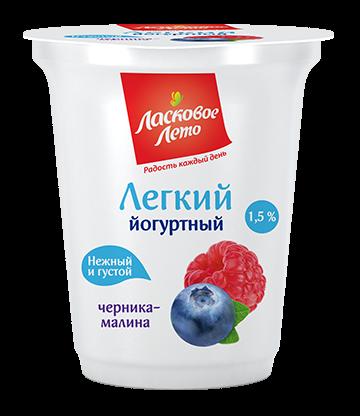 Yogurt light , fillings: blackberry&raspberry , 1.5%,350 gr