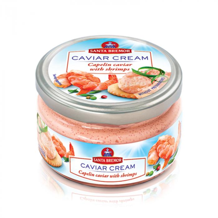 Santa Bremor Caviar Cream with Shrimp 180Gr