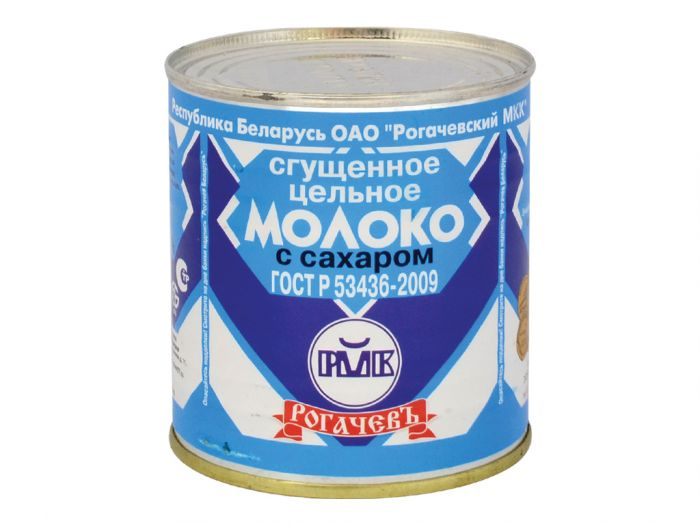 rogachev co. Sweetened whole condensed milk with sugar 8.5% fat 380g