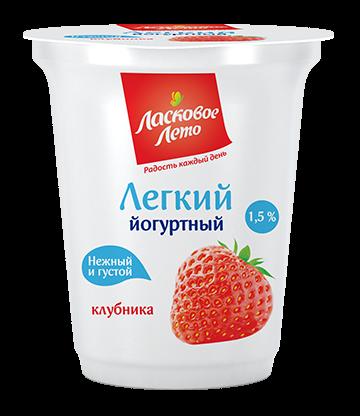 Yogurt light , fillings: strawberry  , 1.5%,350 gr