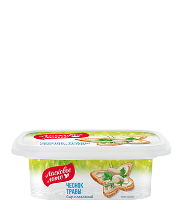"""Processed cheese with carlic and herbs """"Sweet summer"""",/45%, 170 gr"""