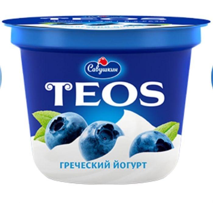 Yogurt Greek TEOS filling: blueberries,2%,250 gr