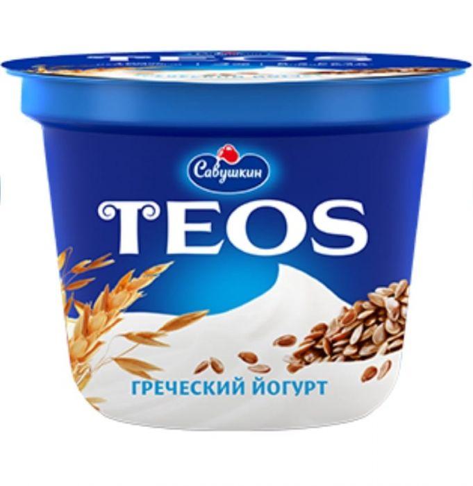 Yogurt Greek TEOS filling: flax seeds and cereals/ 2%, 250 gr