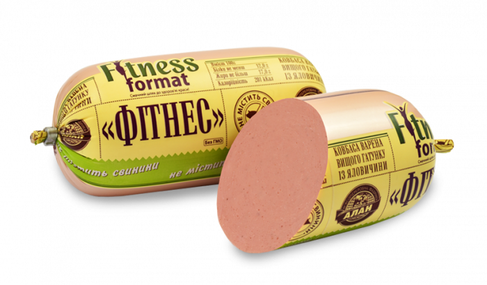 Alan boiled sausage Fitness from beef (beef + chicken) 400g without pork